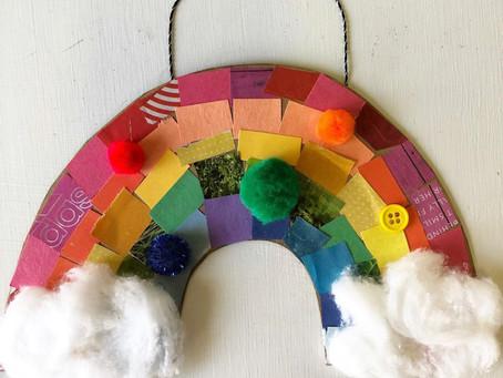 Cardboard Mosaic Rainbow