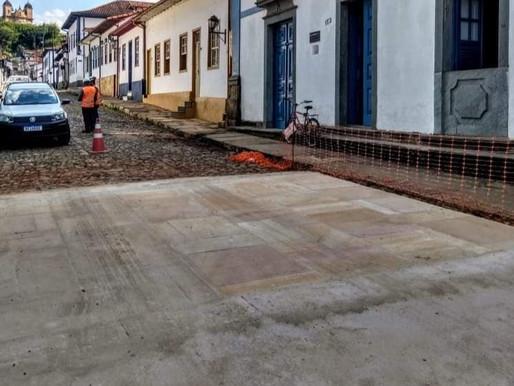 Construção de faixa elevada no entorno do Jardim divide opiniões dos marianenses