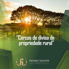 Cercas de divisa de propriedade rural