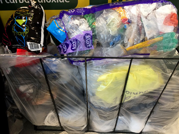 soft plastics ready for recycling