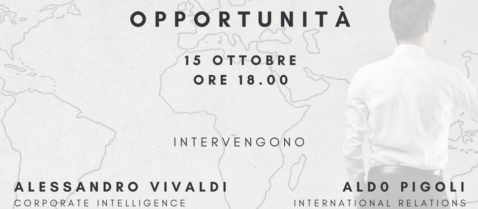 """""""Internazionalizzazione del business: geopolitica, sicurezza, opportunità"""" - Webinar gratuito"""
