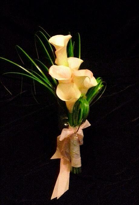 PC Creations Leeds Calla and Bear Grass Arm Bouquet