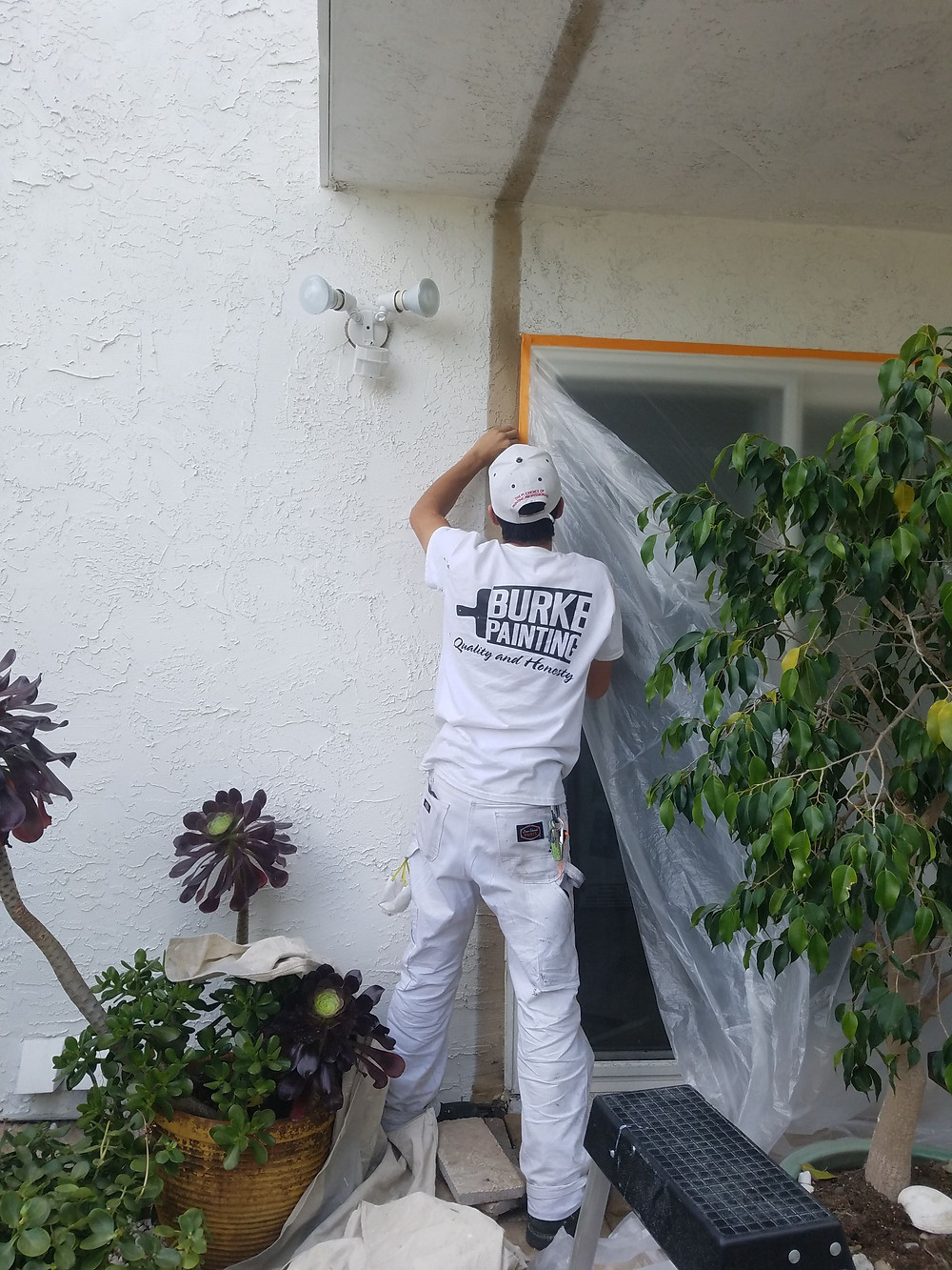 How to mask a window, Burke Painting
