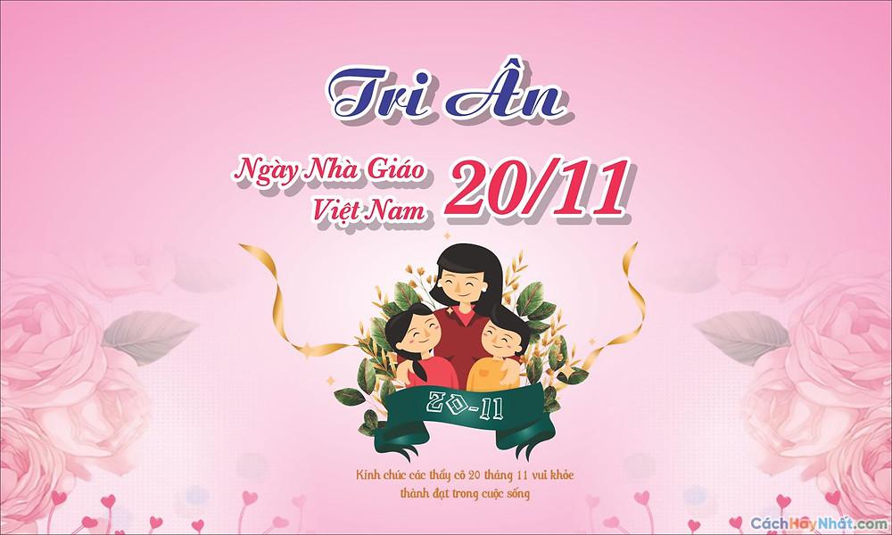 phông tri ân ngày Nhà giáo Việt Nam 20-10