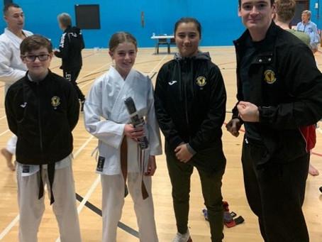 Anya earns black belt at the JKS England Christmas course