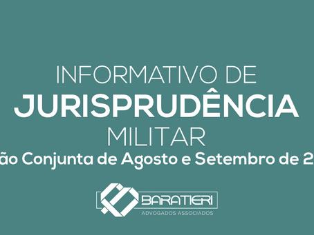 Informativo de Jurisprudência Militar - Edição Conjunta de Agosto e Setembro/2020