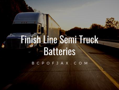 Finish Line Semi Truck Batteries at BCP of Jax