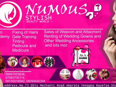 Welcome to: NUMOUS STYLISH  BEAUTY WORLD
