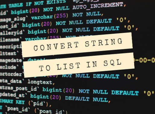 Displaying Values from a String as a List in SQL