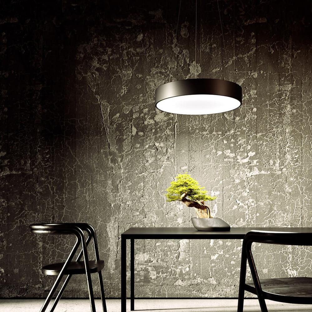 osvetlenie jedalne-kruhove zavesne svietidlo-led