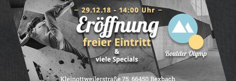 big discount closer at official BOULDER OLYMP BEXBACH ERÖFFNET