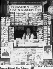 1908 Magazine & Postcard Stand