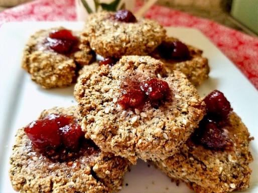 Raspberry Tahini Cookies: Vegan and Gluten Free