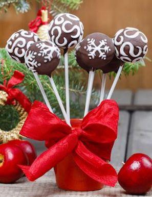 Zdravé vánoční kuličky s čokoládou