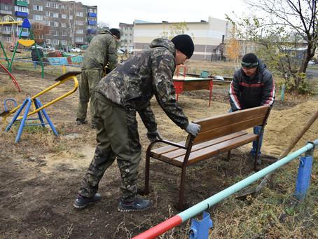 В Карасуке заканчивается обустройство общественных территорий в рамках поддержки ТОС