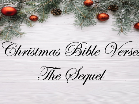 Christmas Bible Verses... Part 2