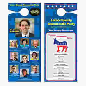 Llano County volunteers delivered approximately 1400 door hangers to potential Democratic voters.