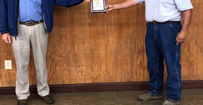 Stephen Barr of Barr Realty and Auction  receives Farm Bureau Award