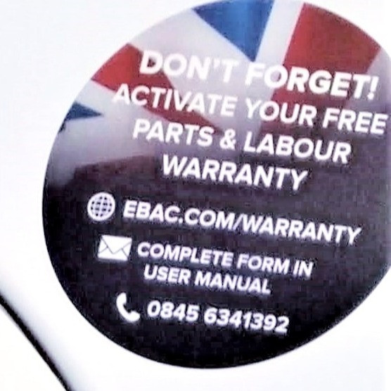 7 Year warranty for a UK Brand washing machine Made In UK
