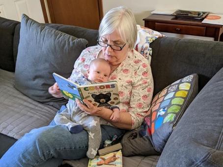 Grandma Jan with Caden-Happy Mother's Day