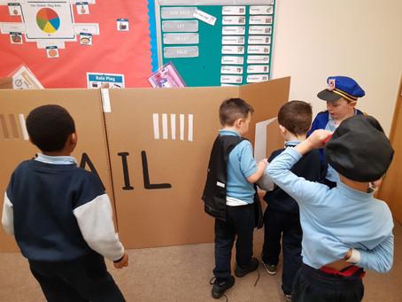 The Garda station is our Aistear theme in Senior Infants.