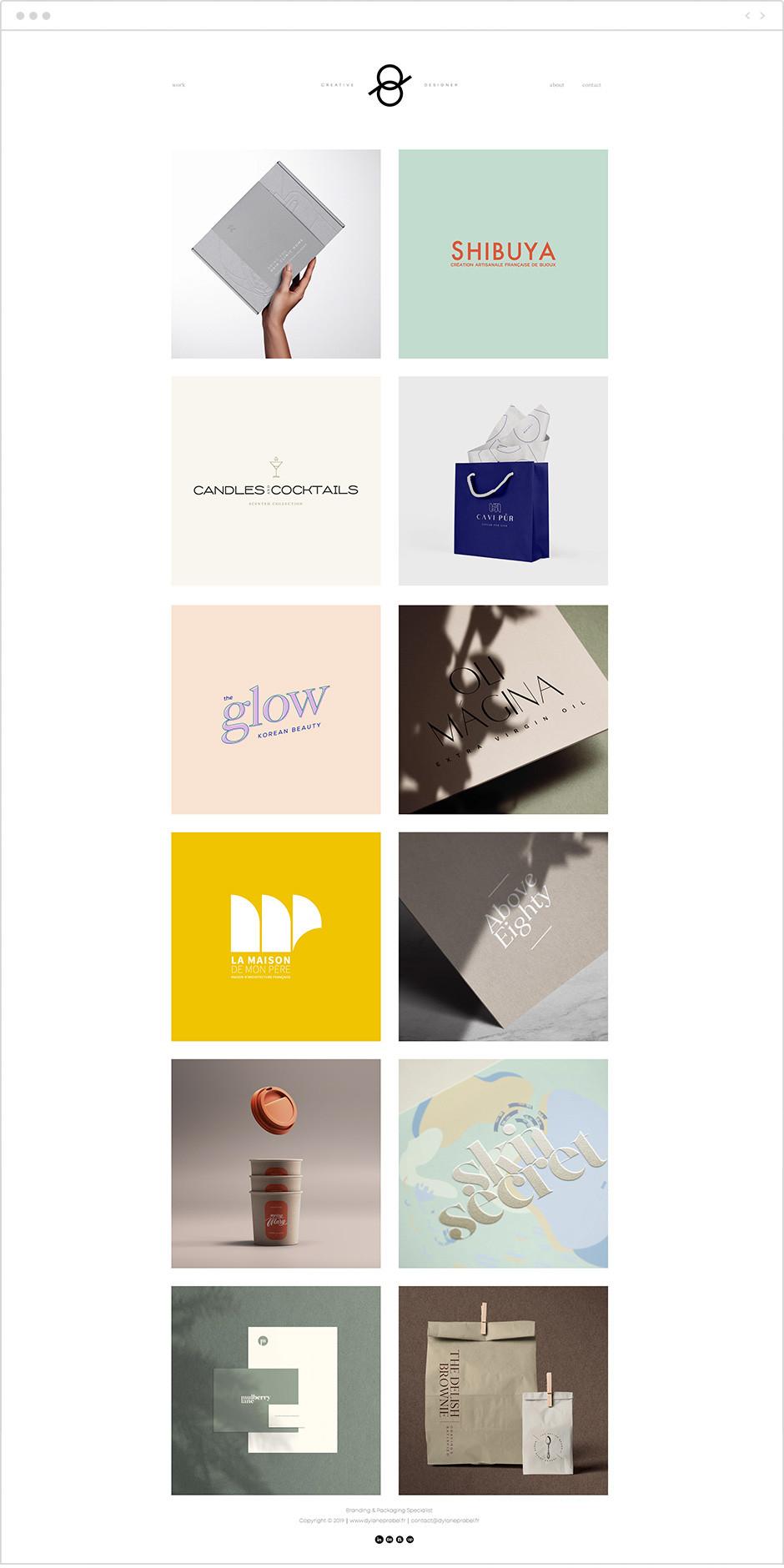 Exemple de portfolio - Dylane Prabel