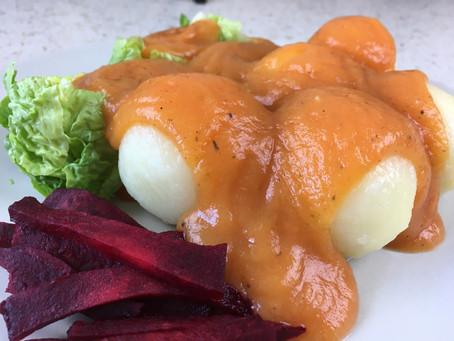Vegán vadasmártás krumpligombóccal (gluténmentes) - videóval