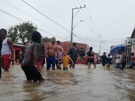 Fuertes lluvias causan emergencias en Barranquilla