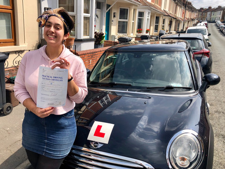 Congratulations Sahel on Passing your Driving Test First Time with only a few minor faults.