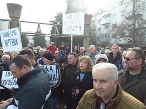 Поддршка на стечајните работници од Велес