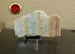 Large Blue Caribbean Calcite Slab on etsy