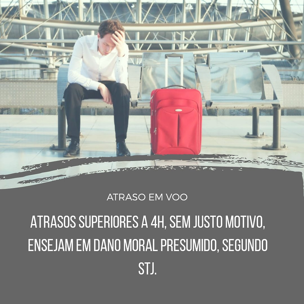 Atraso voo dano moral