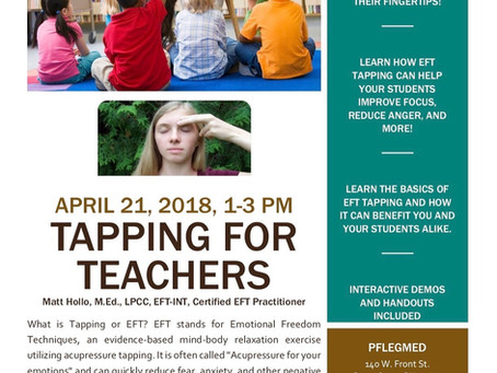 Tapping for Teachers Special Event!