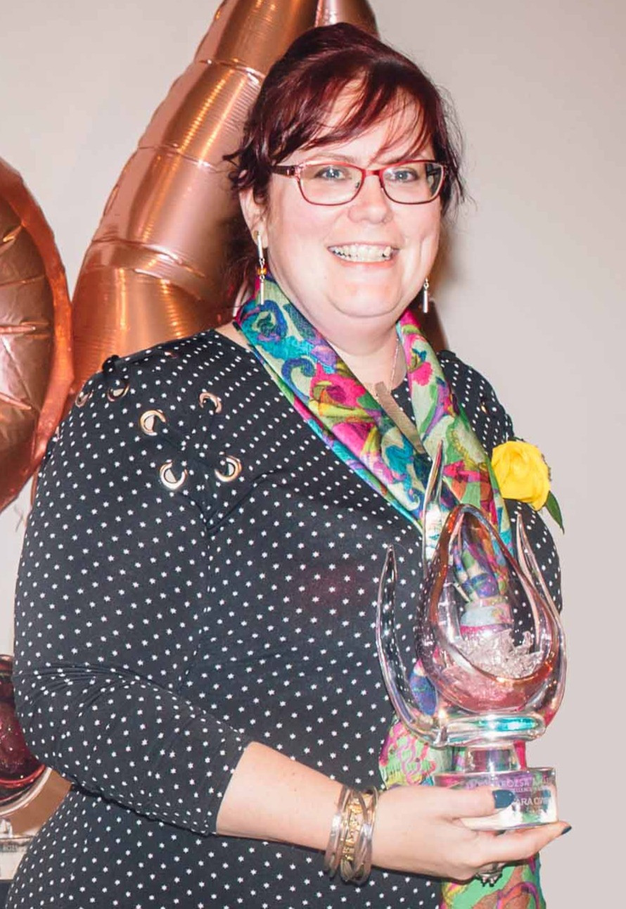 Tara Owen of Alberta Craft Council was the 2019 recipient of the Rozsa Award for Excellence in Board Leadership