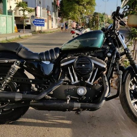 Read about the Badass Harley Davidson iron 883 in the City