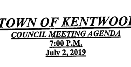 July 2019 Council Meeting Agenda
