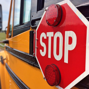Watch a School Bus in Front of You