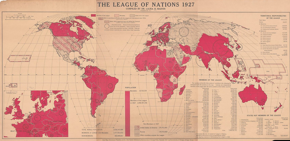 Member Nations in the Leage as of 1927