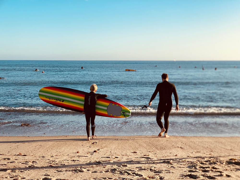 father son time, father son surfing, father and son bonding, family adventure
