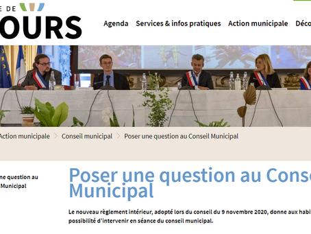 Poser une question au Conseil Municipal Le nouveau règlement intérieur, adopté lors du conseil du...