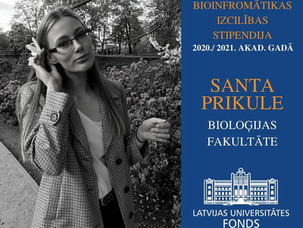 Bioinformatics Excellence Scholarship awarded to our colleague Santa Prikule