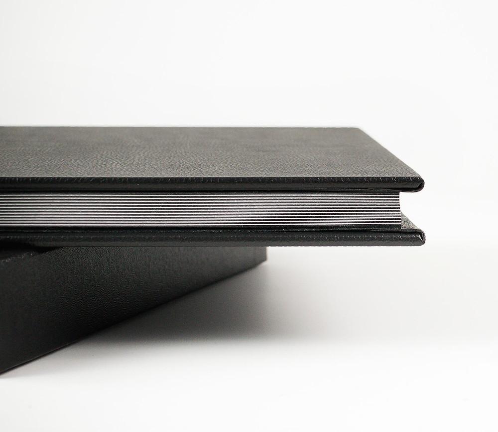 black leather photo album by okanagan photographer nicole hemeon photography