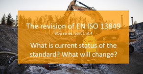 Blog series: The revison of EN ISO 13849: Part 1. (Chapters 1-4)