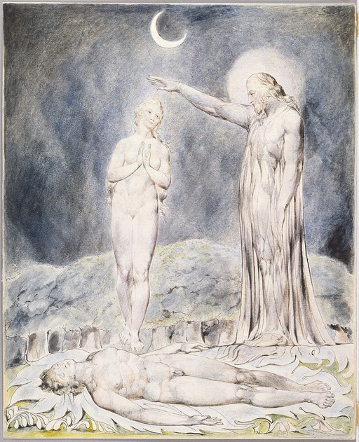 William Blake, The Creation of Eve, 1808