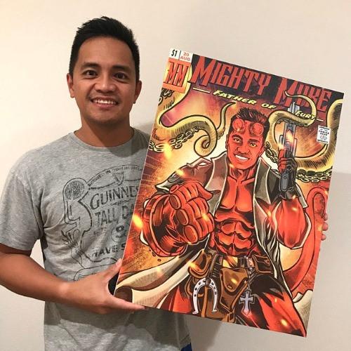 Fightposium Hellboy portrait
