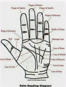 This post is all about Palmistry lines and hand reading