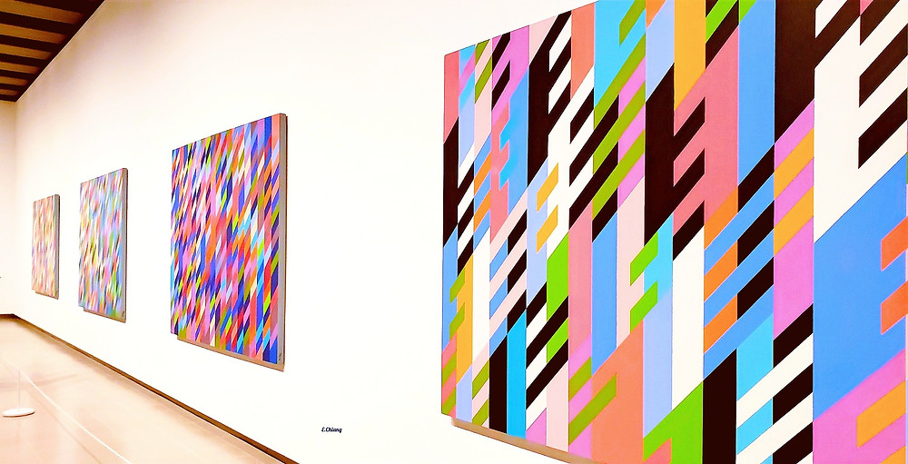 bright color paintings stripes
