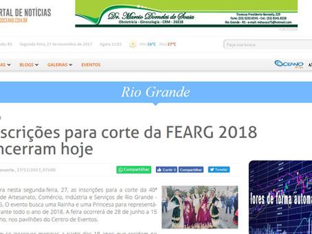 Na Imprensa - Grupo Oceano divulga Fearg 2018