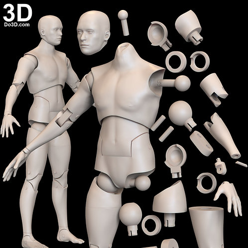 Articulated Action Figure Toy With Full Body Joints | 3D Model Project #1716