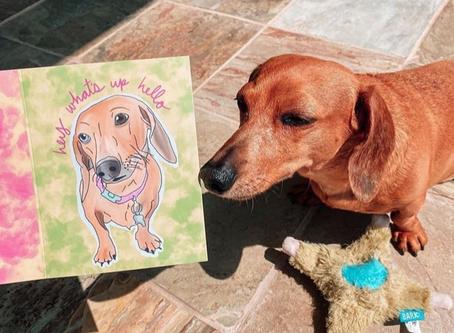 Kya Admires Her Procreate Portrait